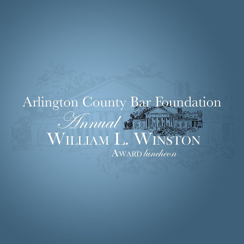 2019 William L. Winston Award