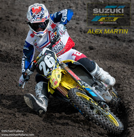 Suzuki Factory Racing Team Pro Rider Alex Martin