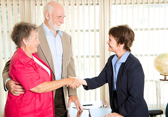 old couple meeting lawyer, your parents' estate plan, estate planning, how to talk about an estate plan, how to talk about a will, how to ask about your parents' will, what is an estate plan, questions about an estate plan, how to discuss an estate plan