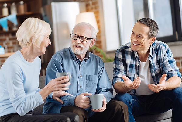 parents and son talking, your parents' estate plan, estate planning, how to talk about an estate plan, how to talk about a will, how to ask about your parents' will, what is an estate plan, questions about an estate plan, how to discuss an estate plan