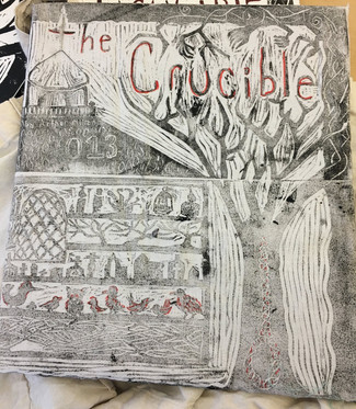 Fabric print design for The Crucible
