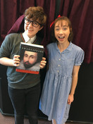 Harry Potter and Matilda enthusing about Shakespeare at a Library Performance :)