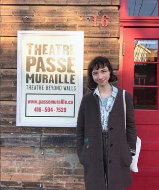 Meeting fellow grant recipients at Theatre Passe Muraille