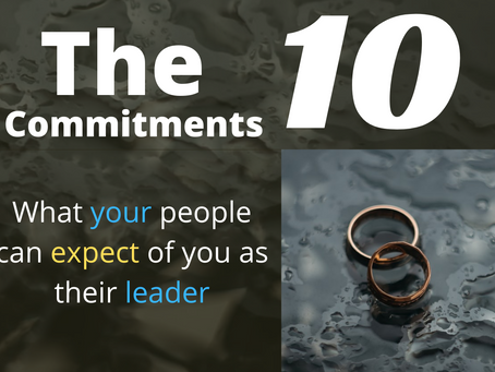 The 10 Commitments: What people can expect from you