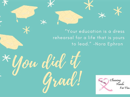Donor Card-You did it Grad