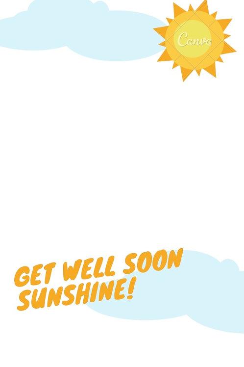 Donor Card-Get Well Soon Sunshine