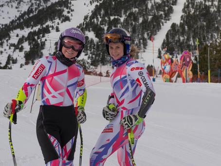 Las mejores esquiadoras internacionales entrenan en la pista Àliga de Copa del Mundo Grandvalira