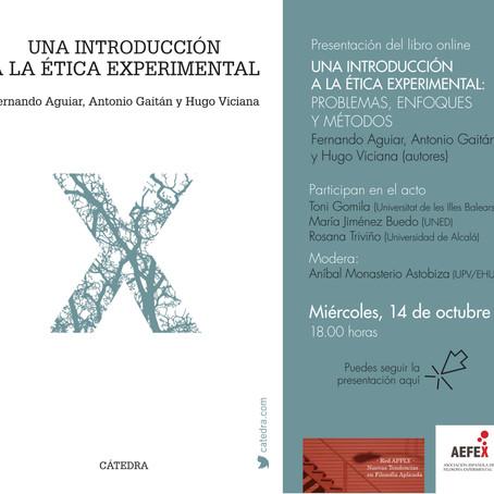 """Presentación del libro """"Una Introducción a la Ética Experimental"""""""