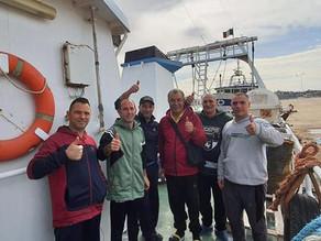 In navigazione verso l'Italia i pescatori di Mazara del Vallo
