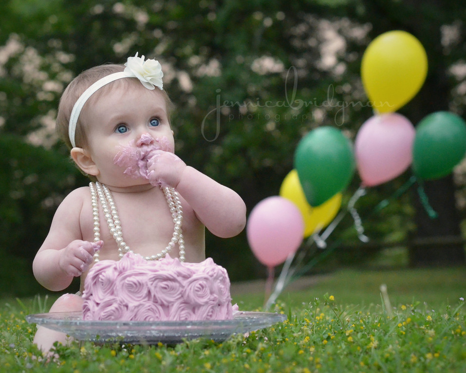 Brynna Turns One! | Cadron Settlement Park Cake Smash Session | Conway, AR Baby Photographer