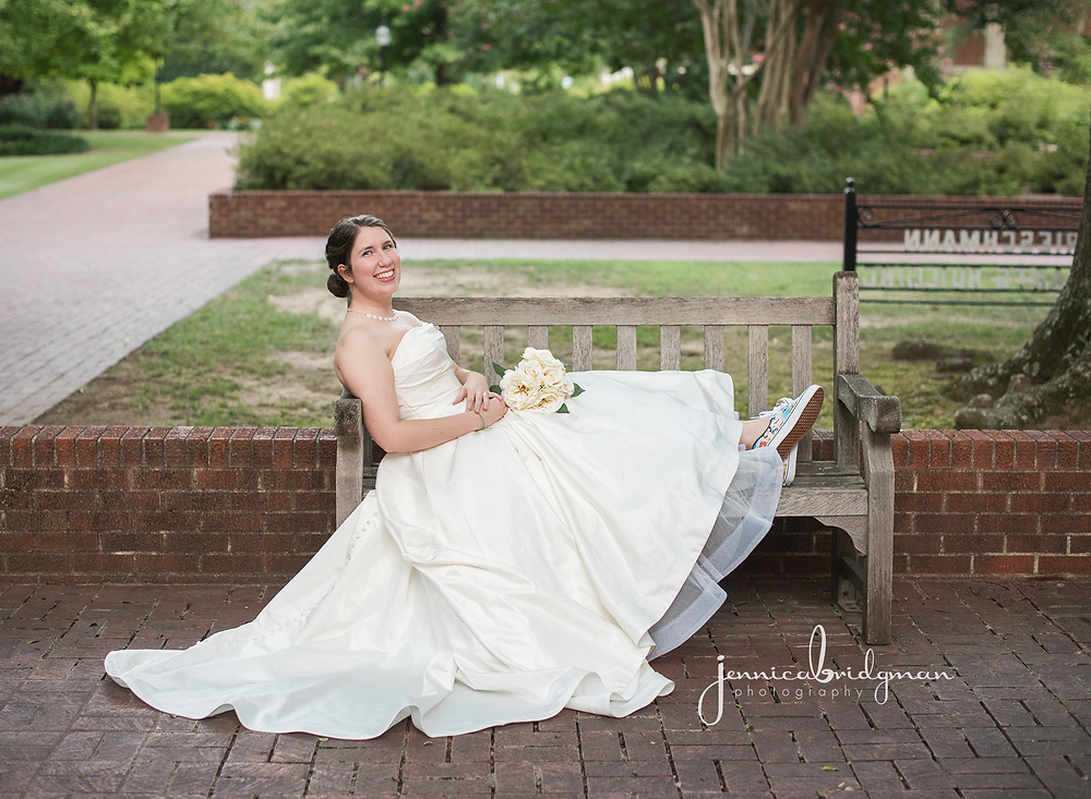 Hayley | Hendrix University Bridal Session | Conway, AR Wedding Photographer