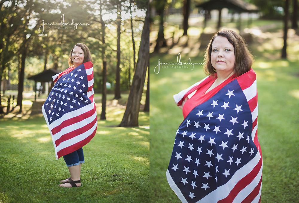 Ashley's Patriotic Session | Cadron Settlement Park Portrait Session | Conway, AR Photographer