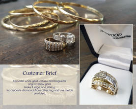 Ring and bangles remodeled