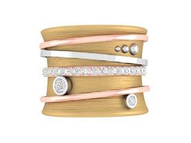 Tri-gold Diamond Spinner