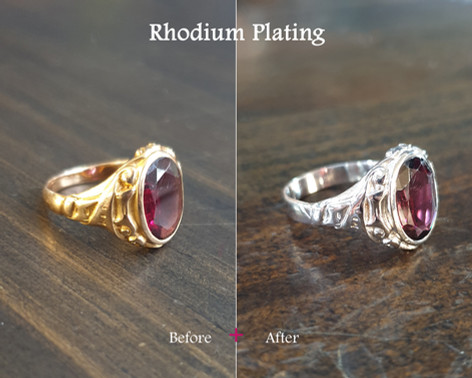 Before & After Rhodium Plating