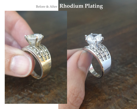 Rhodium Plating Before & After