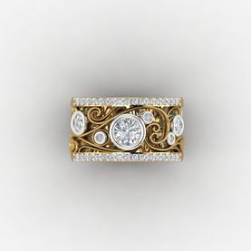Gold and Diamond Filigree