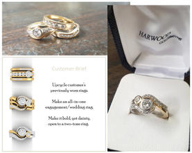 Recycled engagement ring