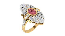 Pink Tourmaline Art Deco
