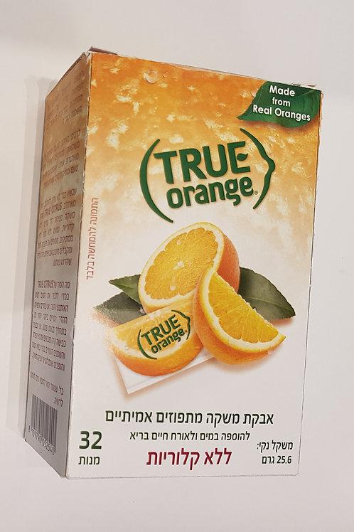 TRUE אבקת משקה מתפוזים אמיתיים