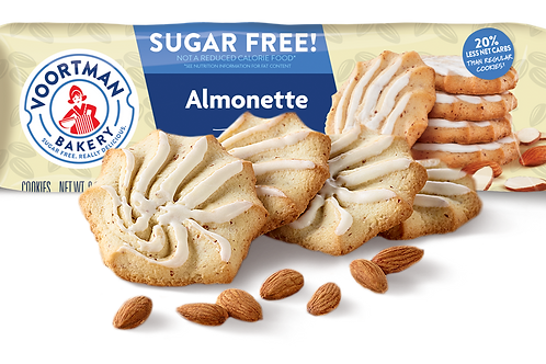 עוגיות וורטמן בטעם שקדים ללא סוכר