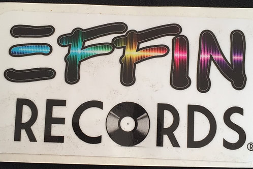 EFFIN Records Sticker