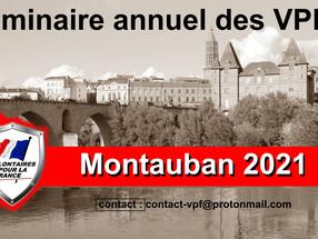 Séminaire annuel des VPF 16 et 17 Octobre 2021