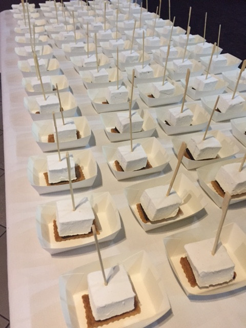 S'mores table set for an event.