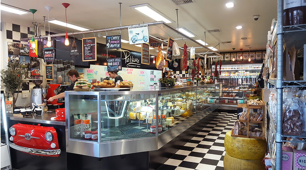 A perfect view of the deli counter