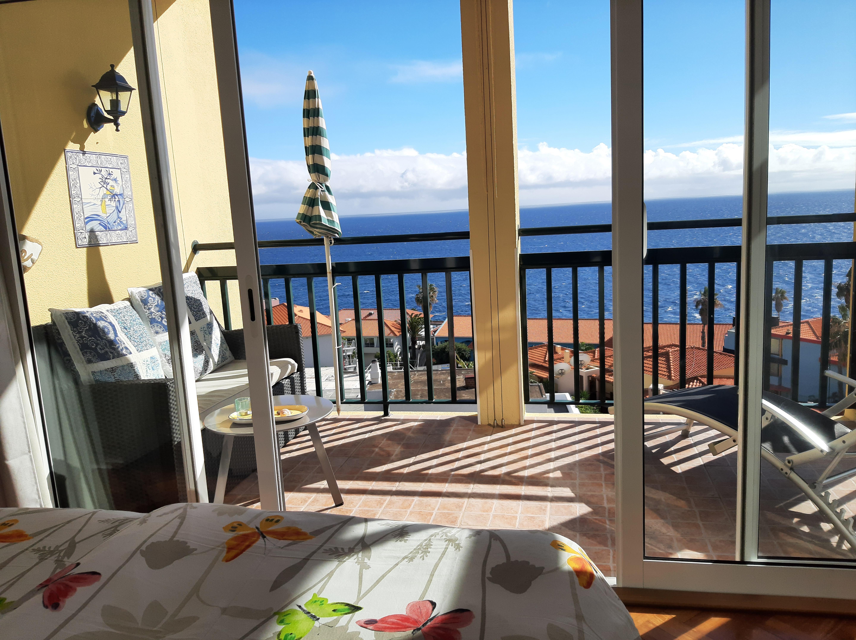 Ferienwohnung Madeira Balkon Schlafzimme