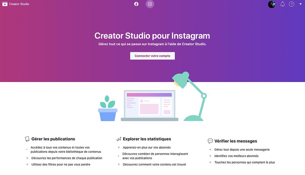 creator studio pour Instagram