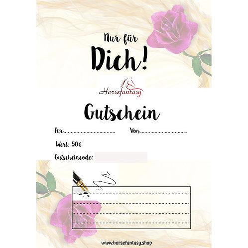 Gutschein Rose 50€