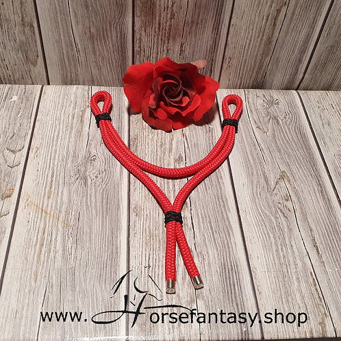 Ropestirnriemen Rot - Schwarz