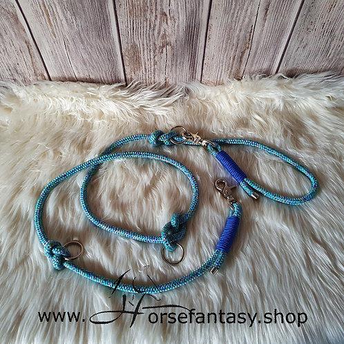 Funktionsleine Girly blue Verstellbar