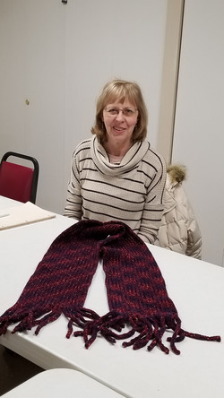 Peggy's chenille scarf
