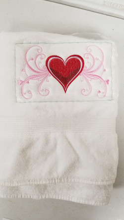 Deb's embroidered towel