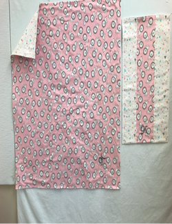 Ivy's blanket and burp cloth for twins