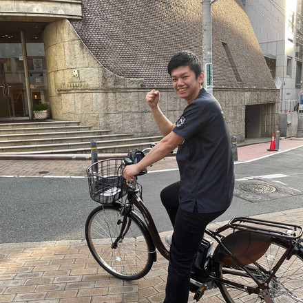 自転車の訪問は楽しい!