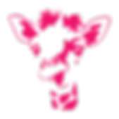 Pink giraffe logo of Puddle or Pond. Independent theatre company.