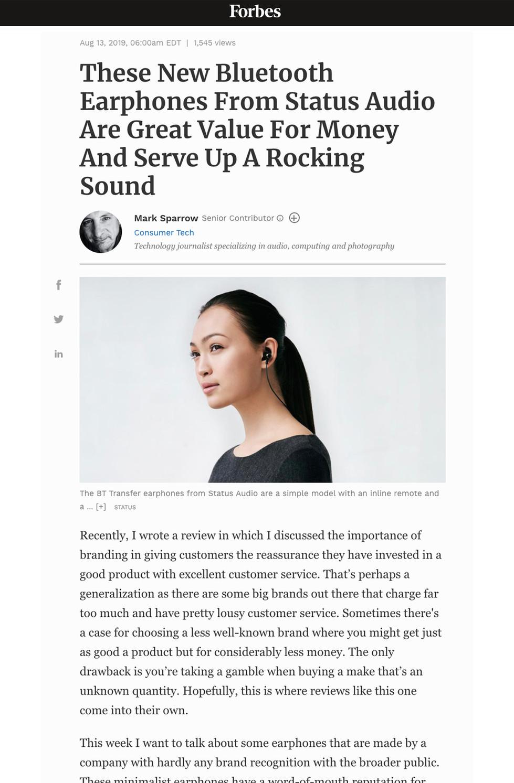 Forbes Status Audio