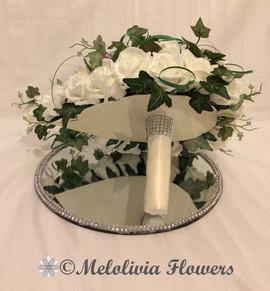 ivory teardrop bouquet - foam flowers