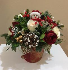 winter flower arrangement - foam flowers