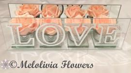 peach roses - foam roses