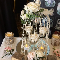 ivory flowers for birdcages - silk flowers