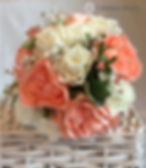 Peach and ivory peony bouquet