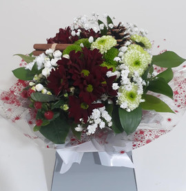 chrysanthemum box bouquet - fresh flowers