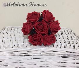 red bouquet posy - foam flowers