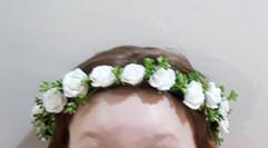 ivory flower crown - foam flowers