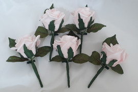 pink buttonholes/corsages - foam flowers