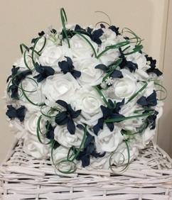 blue & white bouquet - foam & si flowers